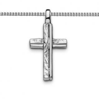 Juwelier Natur Design Kreuz Anhänger Kinder Frauen Männer mit Kette Silber 925