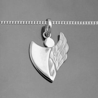 moderner Kinder Schutz Engel Anhänger in Herz Form mit Kette Echt Silber 925 Neu - Vorschau 2