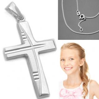 Kinder Kommunion Kreuz Silber - Vorschau 1