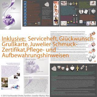 Taufe Kommunion Premium Zirkonia Kreuz Anhänger mit Kette Silber 925 vergoldet - Vorschau 5