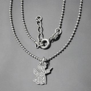 Baby Taufkette Kinder Kommunion Zirkonia Schutz Engel und Kette Echt Silber 925
