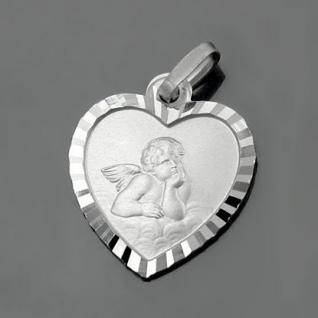 Schutzengel Herz Anhänger mit Kette Silber - Vorschau 2