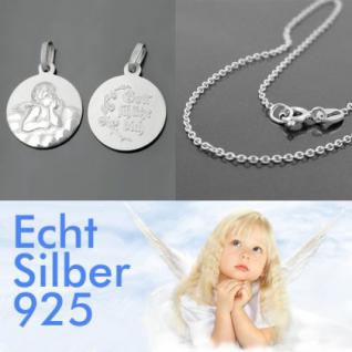 Schutzengel Gott schütze Dich mit Kette Silber