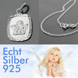 Baby Schutzengel Silber Anhänger mit Kette