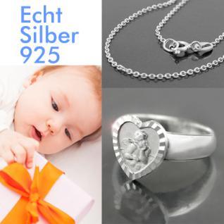 Baby Herz Engel Taufring Kette