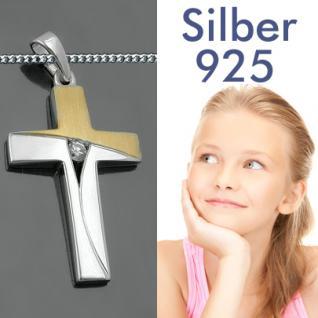 Kinder Kommunion Kreuz Silber vergoldet - Vorschau 1