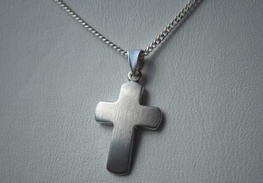 Baby Taufe Kreuz Kette Silber - Vorschau 3
