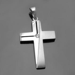 Kommunion Konfirmation Kreuz Anhänger Silber - Vorschau 2