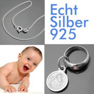 Taufring mit Sternzeichen Jungfrau und Schutzengel Echt Silber 925 mit Kette - Vorschau 2