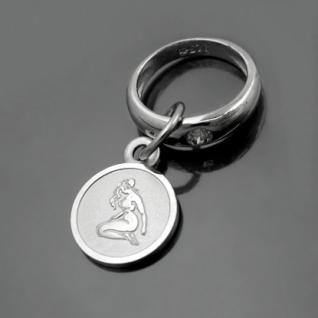 Taufring mit Sternzeichen Jungfrau und Schutzengel Echt Silber 925 mit Kette - Vorschau 1