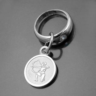 Taufring mit Sternzeichen Schütze und Schutzengel Echt Silber 925 mit Kette