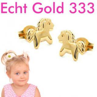 Pony Pferde Ohrstecker Gold 333 - Vorschau 1