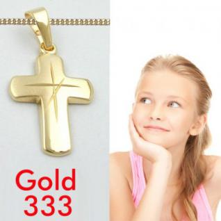 Kinder Kommunion Kreuz Gold 333 1