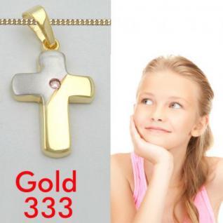 Kinder Kreuz Anhänger Gold 333