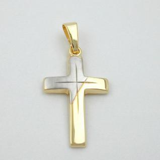 Kinder Kommunion Kreuz Anhänger Gold 333 - Vorschau 2