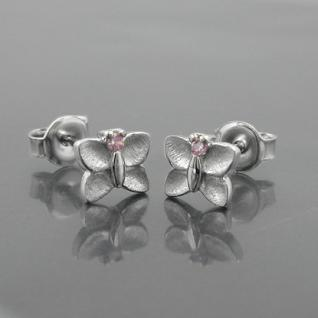 Mädchen Schmetterling Ohrstecker rosa Kinder Ohrringe aus Echt Silber 925 Neu - Vorschau 2