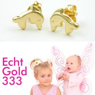 Delfin Ohrstecker Gold 333