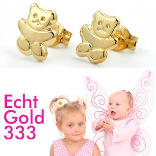 Teddy Bär Ohrstecker Gold 333