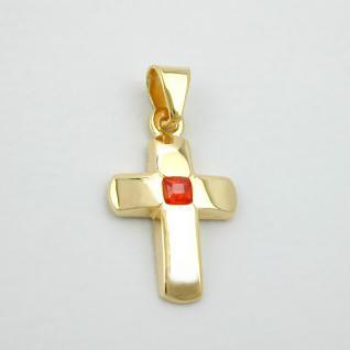 Kommunion Kinder Kreuz Echt Gold 585 - Vorschau 2