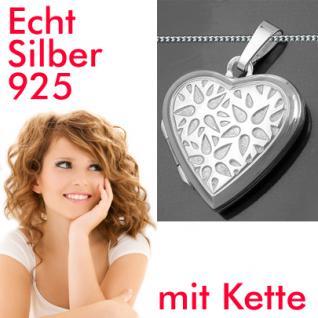 Medaillon Amulett Herz Kette Silber 925