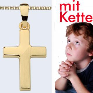 Kinder Kreuz Gold 333 Anhänger - Vorschau 1