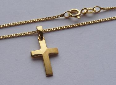 Kinder Kreuz Gold 333 Anhänger - Vorschau 2