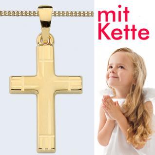 Kinder Kreuz Anhänger Gold 333 - Vorschau 1