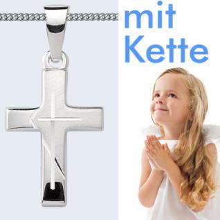Kinder Kommunion Kreuz Anhänger Silber