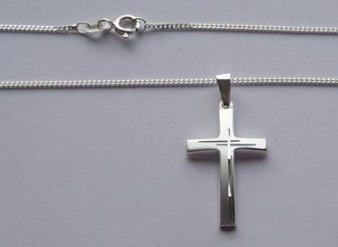 Kommunion Kreuz Silber - Vorschau 2