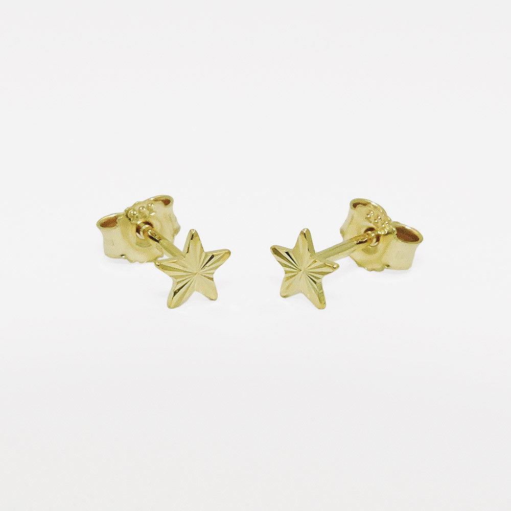 außergewöhnliche Auswahl an Stilen lässige Schuhe neu kommen an Mädchen Damen Stern Ohrstecker Kinder Sternchen Ohrringe Echt Gold 333  glänzend