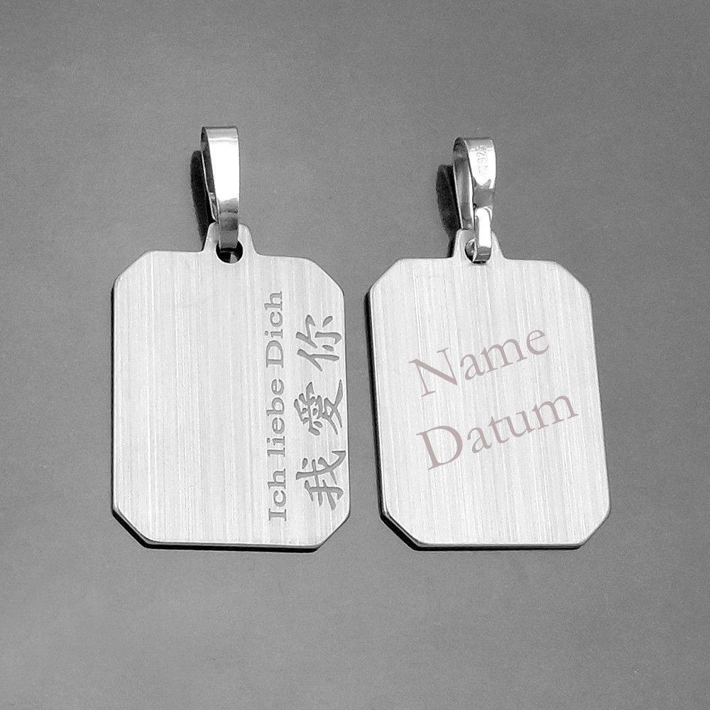 Chinesische Schrift Ich Liebe Dich Gravur Anhanger Name Und Datum