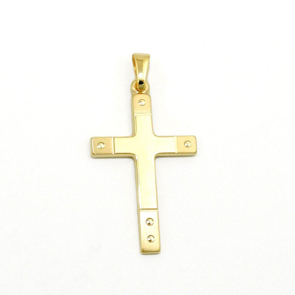 Baby Kinder Taufe Kommunion Kreuz Zirkonia Anhänger Gold 333