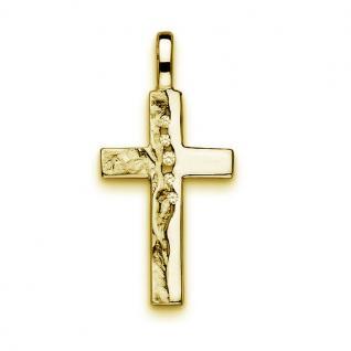 Kinder Kreuz Anhänger Zirkonia zur Kommunion mit Kette Echt Silber 925 vergoldet - Vorschau 3