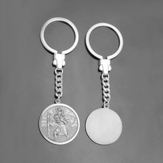 Heiliger Christophorus mit Jesuskind Schlüsselanhänger mit Gravur Schutzheiliger