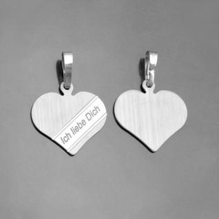 1 Ich liebe Dich Kette mit Namen Gravur Silber 925 Herz Partner Frauen Anhänger