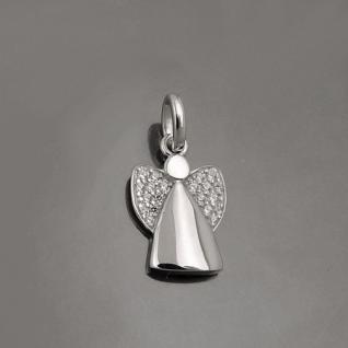 Kinder Schutz Engel mit Zirkonia Steinen im Flügel und Kette Echt Silber 925 Neu - Vorschau 2
