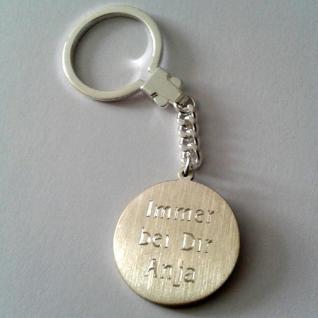 Heiliger Christophorus mit Jesuskind Schlüsselanhänger mit Gravur Schutzheiliger - Vorschau 2