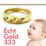 Baby Taufring Gold 333 Zirkonia