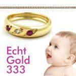 Mädchen Taufring Rubin Gold 333