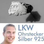 Männer LKW Lastwagen Ohrstecker Silber