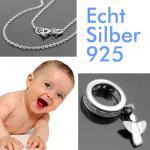 Baby Engel Memoire Taufring Silber