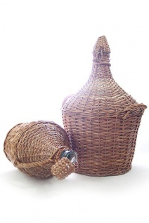 Glasballon im Weidenkorb ? 15 Liter, Demijohn mit Korken - Vorschau 2