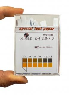 Al-Ambik® PH Indikatoren PH 2-7 ? 100 PH Teststreifen mit Farbtabelle - Vorschau 5