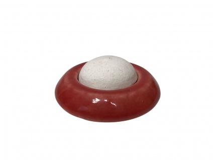 Keramik Duftstein (rot) für ätherische Öle