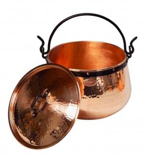 """ CopperGarden"" Kupferkessel 10 Liter mit Deckel - Hexenkessel"