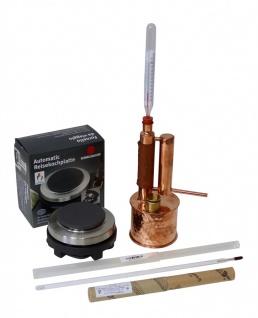 """ CopperGarden®"" Destille "" Easy Moonshine"" 0, 5 Liter electric 500 Watt & Thermometer"