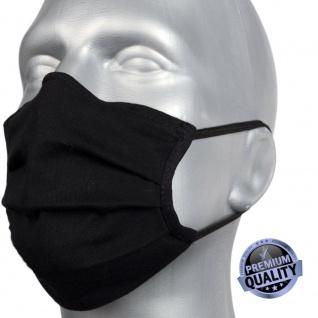 Mundschutz / Maske mit Silberionen in schwarz