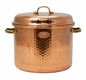 """"""" CopperGarden"""" Kupfertopf 8 Liter / 24 cm - gehämmert mit Griffen & Deckel"""