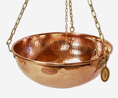 """"""" CopperGarden®"""" Hängende Kupferschale 10 Liter - mit Ketten und Griff"""