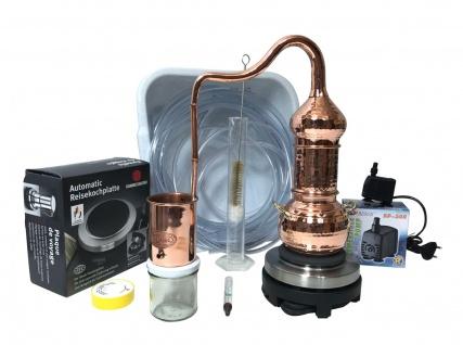 CopperGarden® Destille ESSENCE 0, 5 Liter Kolonnenbrennerei - Sorgenfrei Paket mit allem Zubehör